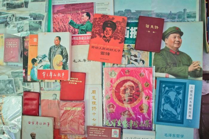 Vente de livres de propagande à Kunming