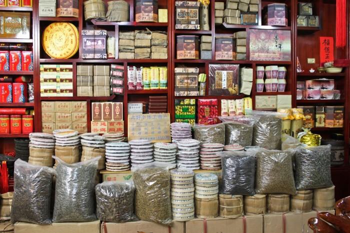 Vendeur de thé à Lijiang