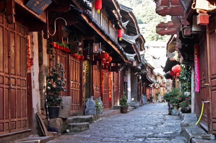 Rue de la vieille ville de Lijiang au Yunnan