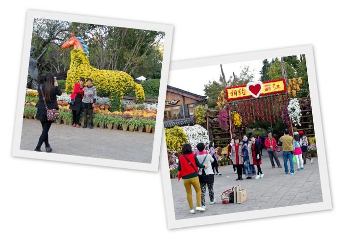Touristes chinois à Lijiang