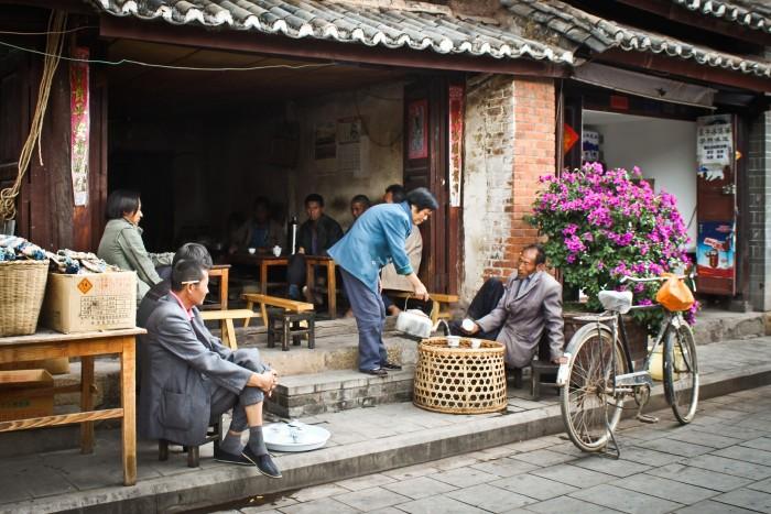 Salon de thé à Weishan