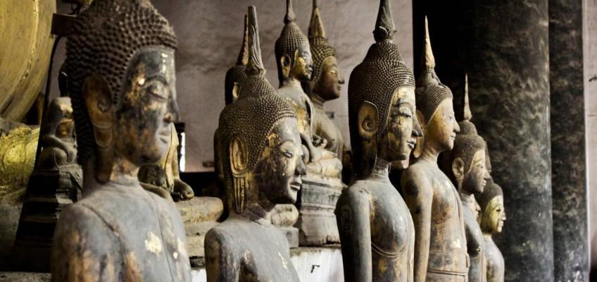 Dans un des temples de Luang Prabang
