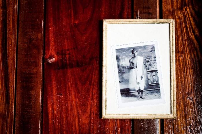 Dans la salle commune du Wat Xieng Thong à Luang Prabang
