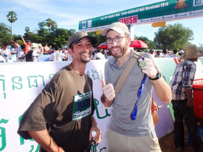 arrivée semi-marathon d'angkor