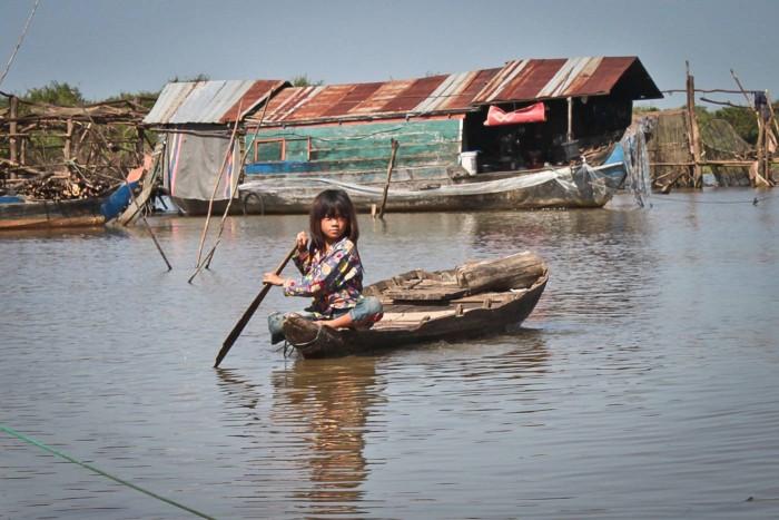 village flottant sur le Tonle Sap