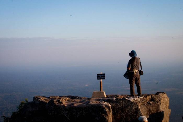 Vue du Cambodge du haut du Preah Vihear