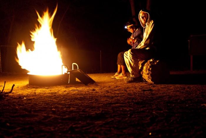 camping à l'est de Los Angeles