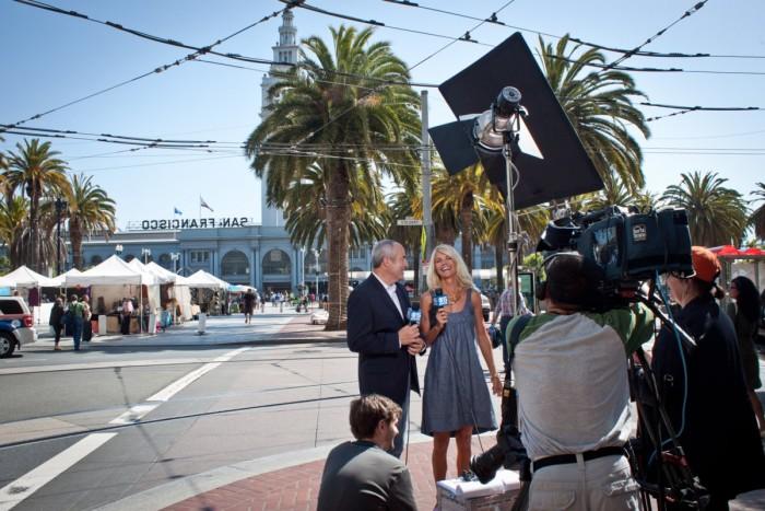 Emission de TV à San Francisco