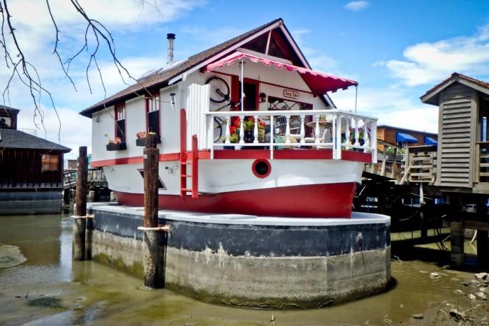 Sausalito, bateau maison