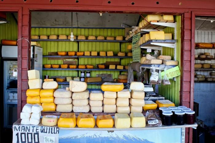Beurre et fromages à Puerto Montt