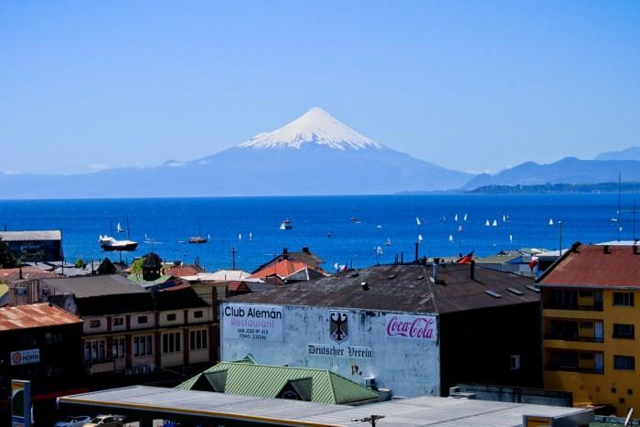 Volcan Osorno vu de Puerto Varas
