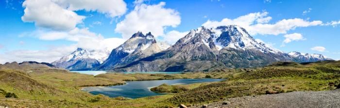 L'arrivée dans le parc et la vue sur les Cuernos del Paine